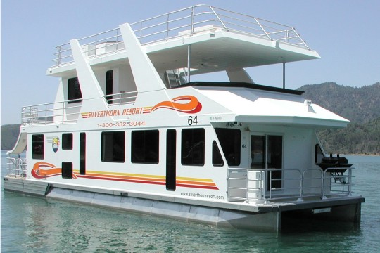 Luxury houseboat rentals in california for Minimalist house boat
